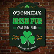Hundred Thousand Welcomes Personalized Irish Pub Sign - $49.95 - $79.95