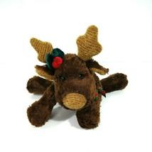 Wal-Mart Brown Reindeer Moose Plush Stuffed Animal Toy Holiday Christmas 7 inch - $12.86