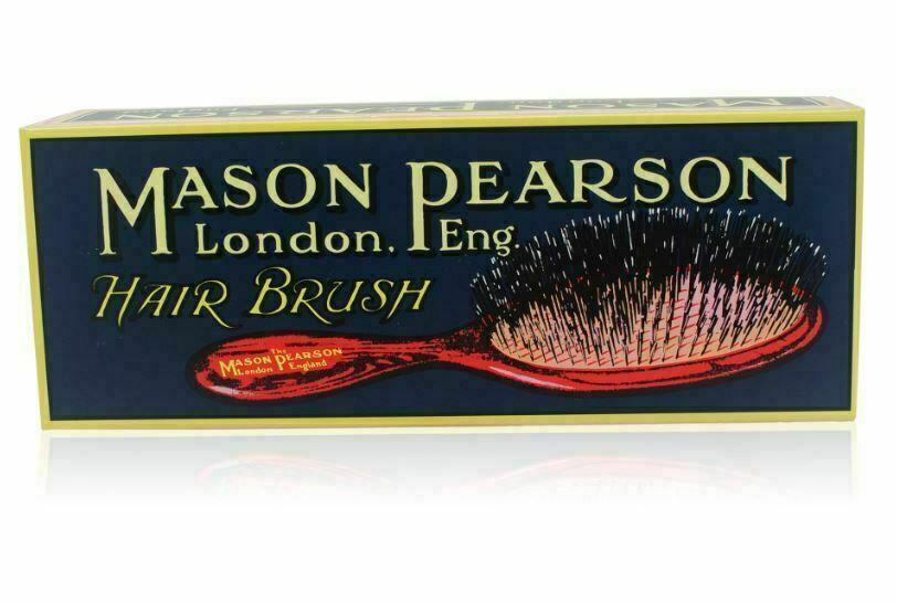 Mason Pearson Junior Bristle & Nylon Hair Brush Medium (BN2) Dark Ruby NEW FS!