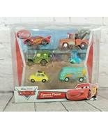 Disney Cars 6 pc Lightning McQueen, Luigi, Guido, Mater, Sarge, Filmore Figure - $49.49