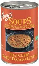 Amy's Organic Thai Curry Sweet Potato Lentil Soup 14.5 oz ( Pack of 12 ) - $84.14