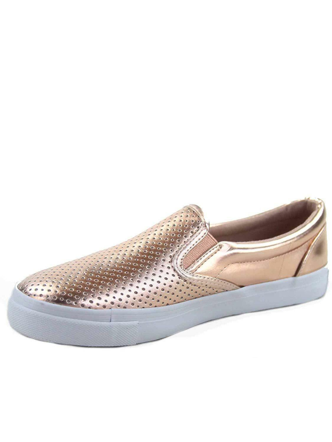 Soda Tracer-S Women's Cute Perforated Slip On Flat Round Toe Sneaker Shoes image 4