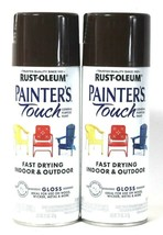 2 Rust-Oleum 11 Oz Painter's Touch General Purpose 318635 Gloss Brown Spray - $20.99