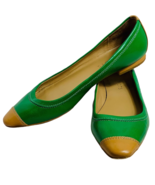 Talbot's Green Mustard Color Flats Size 8M - $28.00