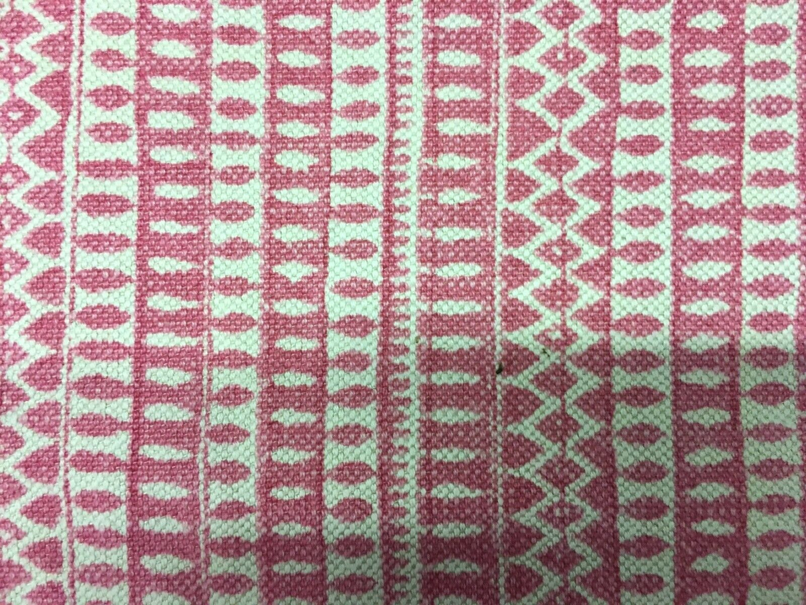 Contemporary Pink and White Stripe Print Multi-Purpose Fabric 1.625 yds FF2