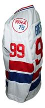 Wayne Gretzky #99 Wha Retro Hockey Jersey New White Any Size image 3