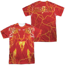 Authentic DC Comics Shazam Movie Whats Inside Sublimation ALL Front Back... - $30.99+