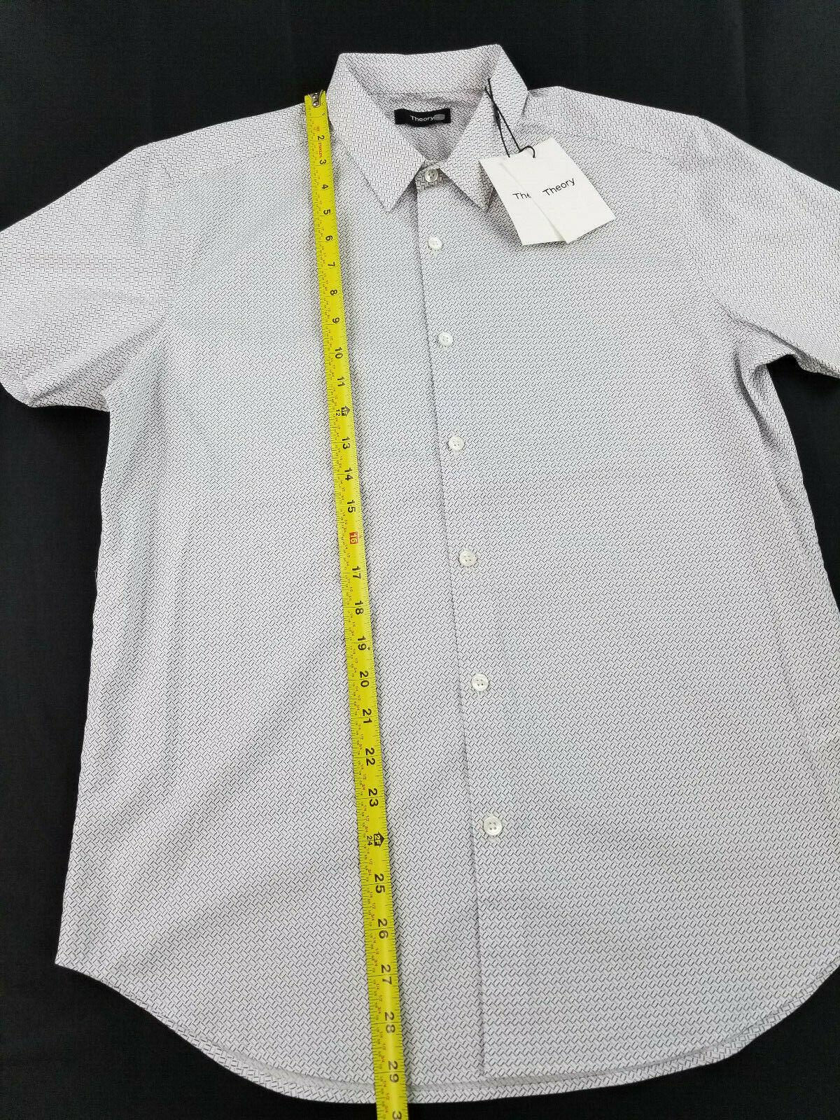 NWT $195 Theory Cotton Slim Fit Stripe Zack Sport Shirt