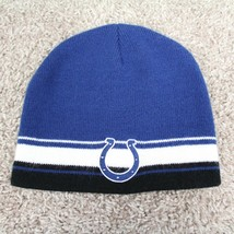 NFL Team Apparel Youth Indianapolis Colts Embroidered Beanie Knit Winter Hat - $24.74