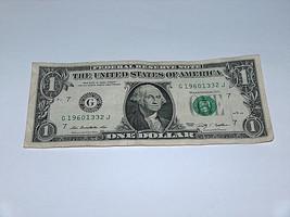 2009 Dollar Bill US Bank Note Date Year Birthday 1960 1332 Fancy Money S... - $8.90