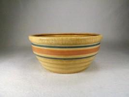 Vintage McCoy Pottery Serving Bowl Blue & Pink Banded Mixing ,Pot , Bowl... - $19.95