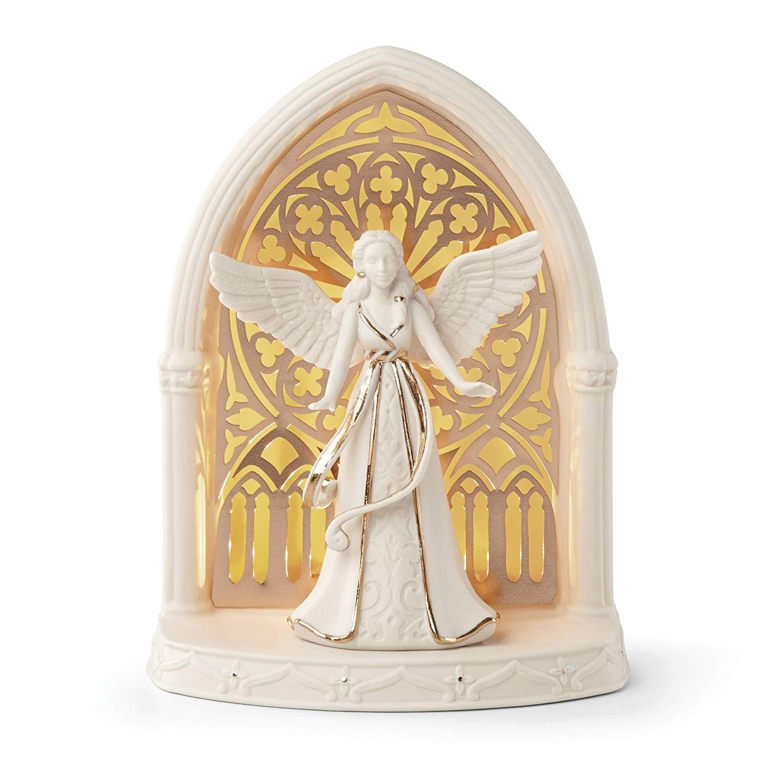 Lenox Lighted Christmas Angel Scene Figurine Illuminations Archway Porcelain NEW