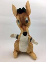 "14"" Vintage 1960s Early Plush Stuffed Google Eye Kangaroo Toy Animal Fai... - $23.75"