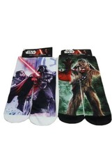Planet Sox Disney Star Wars Chewbacca and Dart Vader socks boys 6-8 Polyester - $11.65