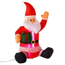 4 Ft Airblown Inflatable Christmas Xmas Santa Claus Gift Decor Lawn Yard... - £23.90 GBP