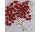 Red l glass beads rosary thumb155 crop