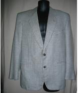 Gianfranco Ferre Jacket Italy 50 USA 40 Black White Checks Rayon Wool Bl... - $128.25
