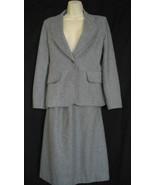 Loubella Extendables Medium Vintage Wool Gray A Line 2 Piece Skirt Suit ... - $46.44