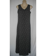 Old Navy Long Gray Sleeveless 2 Small Polyester Maxi Full Length Floral ... - $15.79