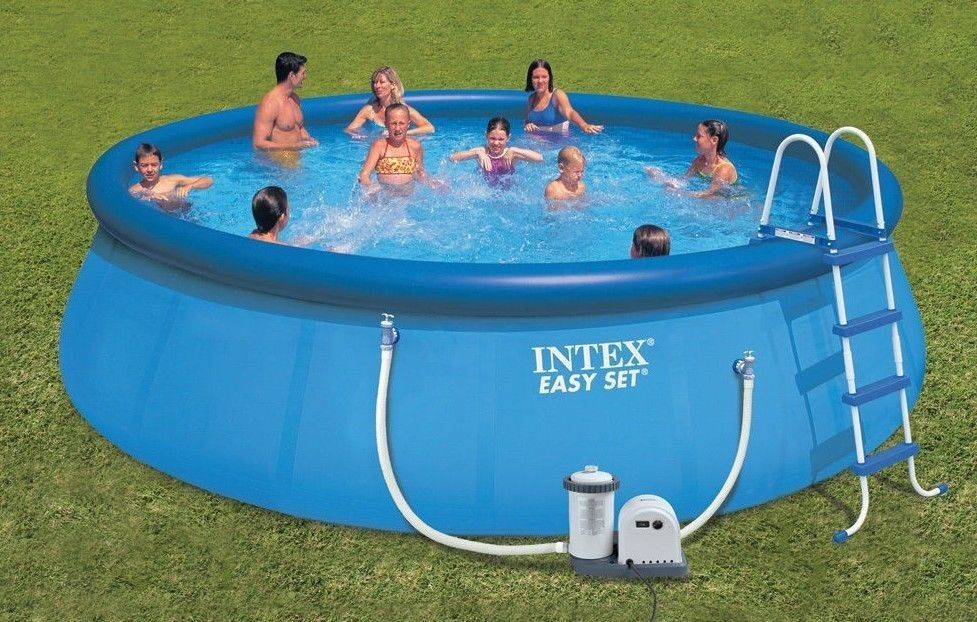 Above ground swimming pool bathing wading vinyl 18 x 48 for Inflatable above ground pools