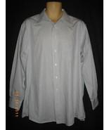 Burberrys Mens 16-1/2- 33 White Stripe Long Sleeve Button Front Shirt - $56.10