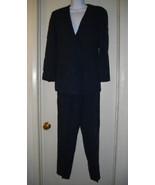Giorgio Armani Italy 40 USA 10 Womens Navy Blue Pants Suit Black Label J... - $80.00