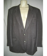 Bachrach Brown Wool 44L Large Single Breasted Jacket Blazer Sports Coat - $55.78