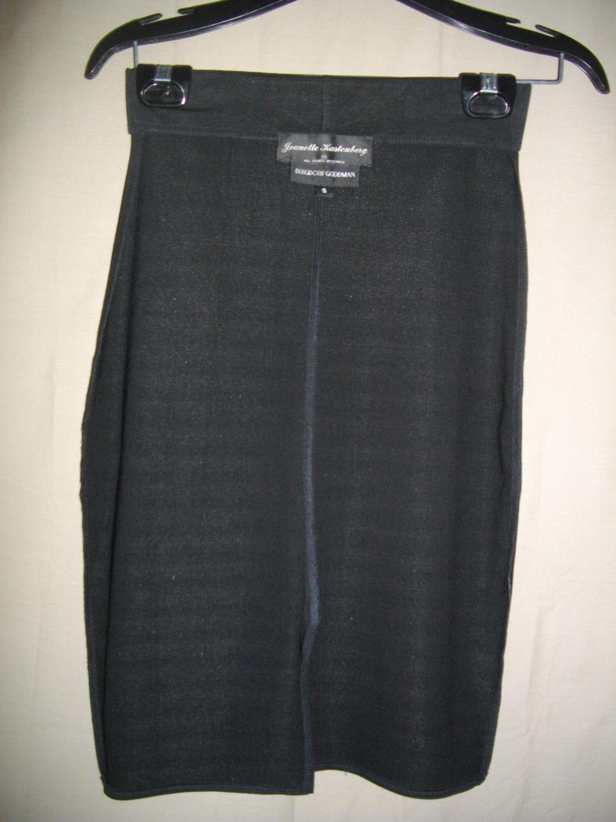 Jeanette Kastenberg Bergdorf Goodman Black Small S Career Below the Knee Skirt
