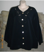 Laundry by Shelli Segal Small S Button Front Acetate Rayon Career Black ... - $32.71