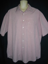 Bill Blass Extra Large XL Red White Checkered Casual Cotton Button Down ... - $24.30