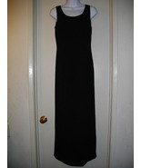 Adrianna Papell Occasions 4 Small Full Length Long Black Maxi Formal Dress - $37.09