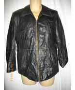 Wilsons Pell Studio Small S Womens Black Leather Coat Jacket Blazer Vest - $46.40
