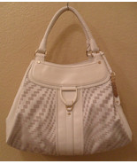 COLE HAAN Geni Off- White Leather Triangle Tote Bag Handbag (MAKE AN OFFER) - $254.18
