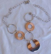 6 rounds cooper and silver necklace thumb200