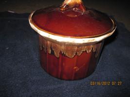 McCoy Pottery Drip Edge Bean Pot w Lid Casserole Ovenware Cookery Crock Pot - $28.99