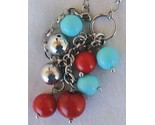 Turquoise red and silver necklace thumb155 crop