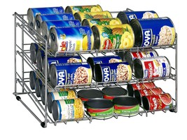 Can Foods Organizer Rack, Pantry Kitchen Cabine... - $36.41