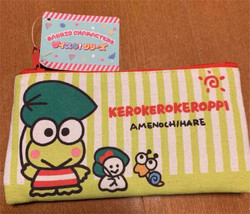 Sanrio  Keroke Roqueroppy Flat Pouch Pen Case Cute Rare - $37.19