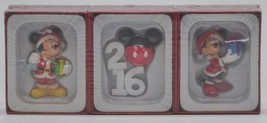 2016 Hallmark / Disney Christmas Gift Ornaments 3 Pack Mickey Minnie Mouse - $19.99