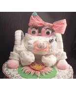 PINK FROGGY Diaper Cake TOPPER Girl Baby Shower... - $28.00