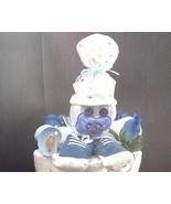 BLUE SOCK BABY Gift Diaper Cake TOPPER ONLY - $28.00