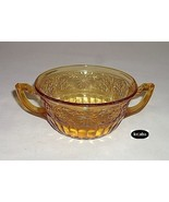 Daisy Amber Bowl Cream Soup Indiana Glass - $8.95