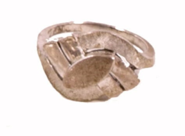 Early .925 Sterling Silver Geometric Design Ring - $18.95