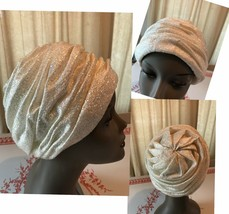 Vintage White Lurex Turban - $46.75