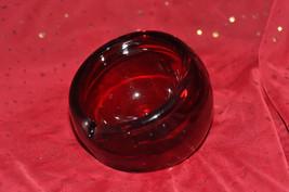 Vintage Viking Eames era Hand Blown Ruby Red Ar... - $74.78