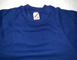 JERZEES Mens Sweatshirt Vintage 90s Crew Blank Deadstock Made In USA Blue M NWT - $28.49