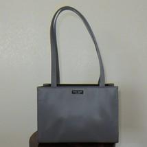 Kate Spade Tote Steel Grey Silk Fabric Kate Spade Tote Purse Handbag Sho... - $158.39