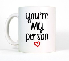 Coffee Mug 11oz, You're My Person Heart, Gift For Love - £7.10 GBP