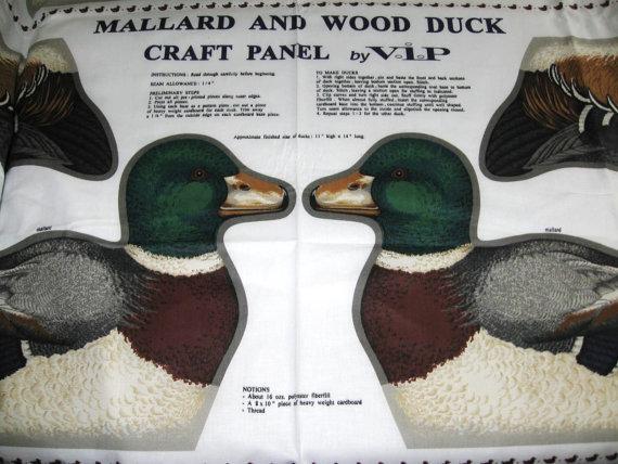 MALLARD WOOD DUCK PILLOW FABRIC CRANSTON V.I.P. OOP