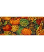 Lightweight Fall Pumpkin, Apple.Corn  Quilt, Craft Fabric - $2.99